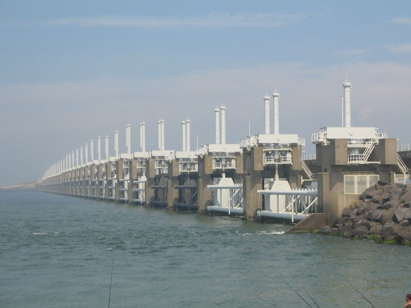 File:Delta Works project in Netherlands (consisting of dams, locks, dikes, levees and storme sludge barriers).jpg